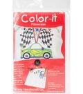 Fairway Needlecraft 30\u0027\u0027x20\u0027\u0027 Just Color-It Pillowcase-Race Car