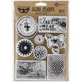 Finnabair Cling Stamps 6\u0022X7.5\u0022-Rust & Dust