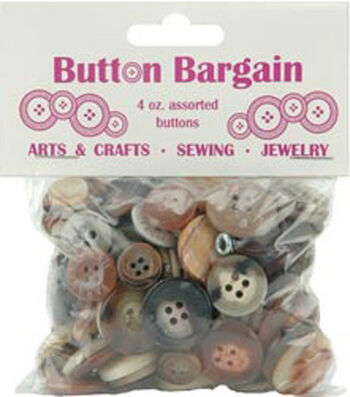 Bag of Buttons 4 oz-Natural