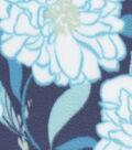 Anti-Pill Fleece Fabric -Marina Large Flowers