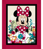 Disney Minnie Mouse No Sew Fleece Throw Fabric-Floral, , hi-res