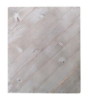 Jillibean Soup Mix The Media 12''x15'' Diagonal Wooden Plank-Gray