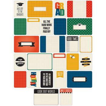 Project Life Themed Cards 40/Pkg-Graduation