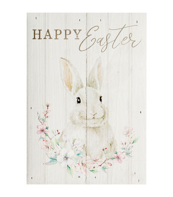 Easter Pinewood Wall Decor-Happy Easter & Bunny