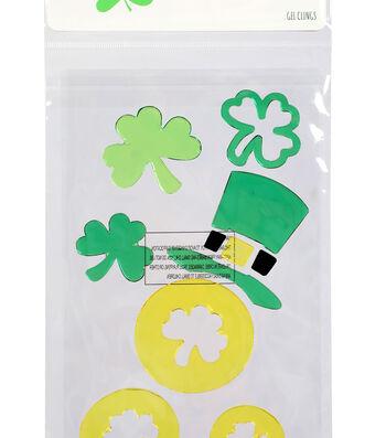 St. Patrick's Day Decor Hat & Shamrock Gel Clings