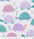 Blizzard Fleece Fabric-Pastel Turtles