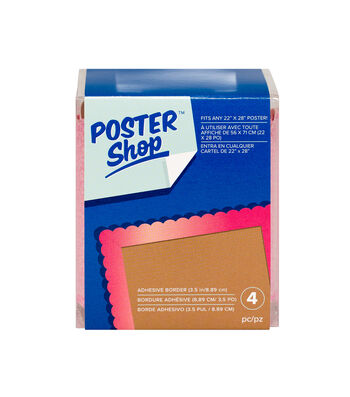 Poster Shop Adhesive Boarder-Glitter Begonia
