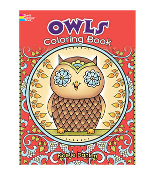 Adult Coloring Book-Creative Haven Owls