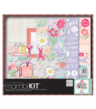 "Me & My Big Ideas Boxed Album Kit 12""X12""-Sweet Baby Girl"