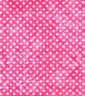 Quilter\u0027s Flannel Fabric-Dots on Pink
