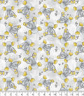 Nursery Flannel Fabric -Gray Elephant