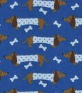 Snuggle Flannel Fabric -Polka Dot Dachshund