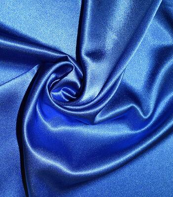 Casa Gardenia Crepe Back Satin Fabric 54''-Directoire Blue