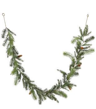 Handmade Holiday Christmas 66'' Pine Needle & Pinecone Garland