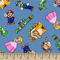 Mario Cotton Fabric-Mario and Friends