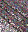 Glitterbug Multi Colored Sequins On Mesh Fabric