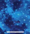 Anti-Pill Fleece Fabric 59\u0027\u0027-Blue Tie Dye & Stars