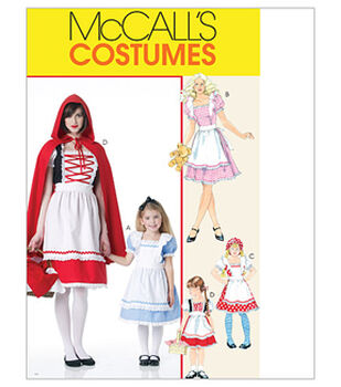 McCall's Pattern M6187-Misses'/Children's/Girls' Storybook Costumes