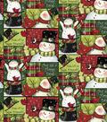 Christmas Cotton Fabric-Snowmen Patches