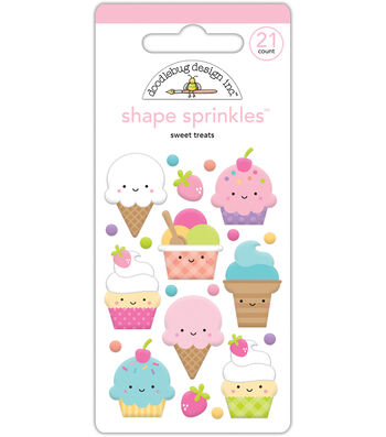 Doodlebug Fairy Tales Shape Sprinkles Glossy Enamel Sticker-Sweet Treats