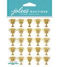 Jolee\u0027s Boutique Dimensional Stickers-Gold Glitter Trophy