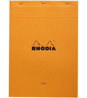 "Rhodia Lined Pad W/Margin 8.25""X11.75""-Orange"