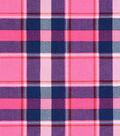 Doodles Juvenile Rayon Apparel Fabric 53\u0027\u0027-Pink Plaid