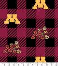 Minnesota Golden Gophers Fleece Fabric-Buffalo Plaid