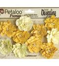 Darjeeling Teastained Dahlia Flowers 1.5\u0022-Yellow