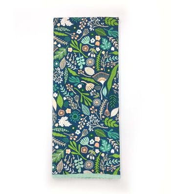 Hello Spring 16''x28'' French Terry Towel-Floral on Blue