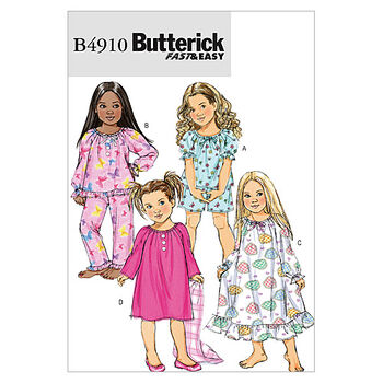 Butterick Child Sleep & Lounge-B4910