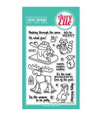 Avery Elle Clear Stamps-Snow Much Fun