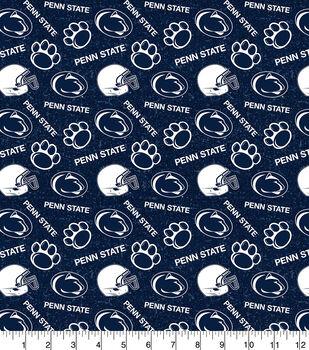 Penn State University Nittany Lions Cotton Fabric-Tone on Tone