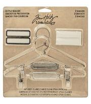 "Tim Holtz Idea-Ology Display Hangers 5.75""X3"" 2/Pkg-Nickel, , hi-res"