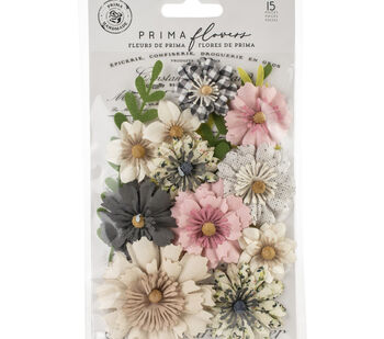 Prima Marketing Fabric Flowers -No Other Place/Spring Farmhouse