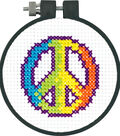 Dimensions Learn-A-Craft Counted Cross Stitch Kit Rainbow Peace