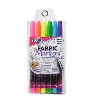 Tulip Fabric Markers 6 PK Neon, , hi-res