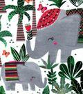 Snuggle Flannel Fabric 42\u0027\u0027-Tribal Elephant