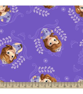Disney Junior Sofia The First Print Fabric-Princess Frame