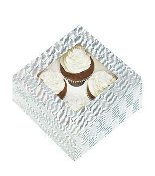 Cupcake Boxes-4 Cavity Colorwheel 3/Pkg