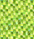 Keepsake Calico Cotton Fabric -Green & Yellow Mosaic