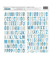 American Crafts Thickers 188 pk Chipboard Letter Stickers-Winter Getaway, , hi-res