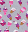 Snuggle Flannel Fabric -Ice Cream Parlor on Gray