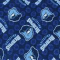 Memphis Grizzlies Fleece Fabric -Logo Toss