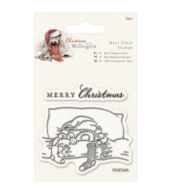 Docrafts Wellington Christmas Mini Clear Stamps-Bedtime
