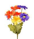 Fresh Picked Spring 17\u0027\u0027 Gerbera Daisy Bush-Orange, Purple & Yellow