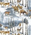 Anti-Pill Fleece Fabric 58\u0022-Wintertime Deer