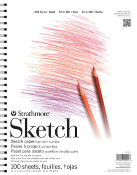 Strathmore 200 Series 100 Sheets 11''x14'' Sketch Pad