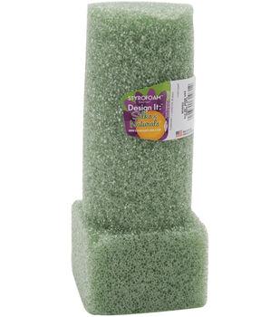 "Floracraft Styrofoam Vase Insert 8""X3"" 1Pk-Green"