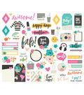 Simple Stories Good Vibes 55 pk Bits & Pieces Die-cuts